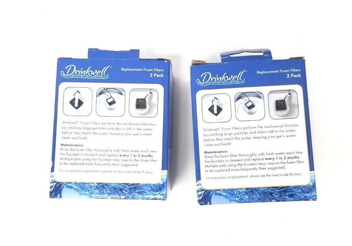 Pet Safe Drinkwell Replacement Foam Filters (2) - 2 Pack Mechanical Filtration