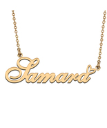 Name Necklace Gold and Silver for Friend Family Member Named Samara - $13.99 - $15.99