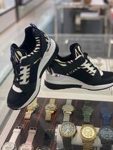 ❤️NIB Michael Kors Georgie embossed leather Zebra trainer Snakers shoes - $95.00