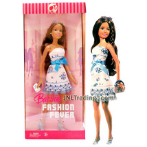 Year 2006 Barbie Fashion Fever 12 Inch Doll TERESA in White Dress with B... - $54.99