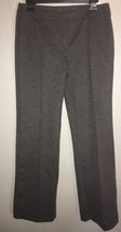 NWT Ladies Women's Size 7/8 Regular Express Gray Ponte Seam Trouser Pants N47 - $19.56