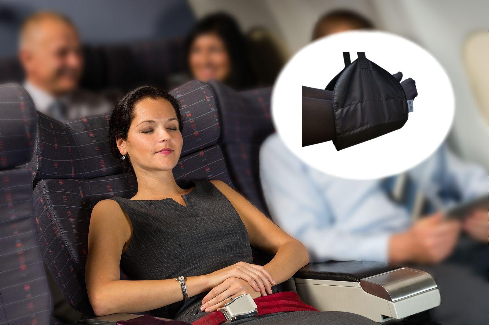 Sleepy Ride Airplane Footrest Hammock Sling Foot Rest International Travel