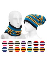 Women's Striped Color Acrylic 2-in-1 Head and Neck Warmer - $10.99