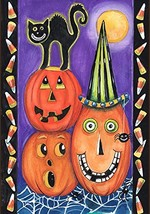 Toland Home Garden Pumpkin Party 12.5 x 18 Inch Decorative Colorful Hall... - £9.06 GBP