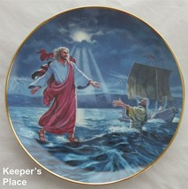 Franklin Mint JESUS WALKS ON WATER Plate Heirloom Collection William Ternoy - $19.00