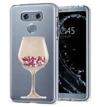HTC U11 Case,HTC Ocean Case,Creative Handmade Wine Sandglass Dynamic Liquid Glit - $10.88