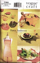 Vintage 1999 Vogue Craft Pattern 7160 - AUTUMN TABLE LINENS - $8.00