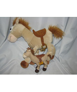 "DISNEY PIXAR STUFFED PLUSH TOY STORY BULLSEYE HORSE PONY LOT 2 BIG 21"" S... - $29.69"