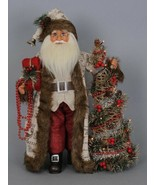 "Karen Didion Woodland Elegance Santa Claus lighted tree 18"" CC16-113 - $118.00"