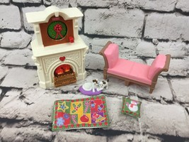 Fisher Price Loving Family Seasonal Room Lights Sounds Fireplace Christmas - $27.71