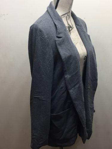 Zara Basic Women Long Boyfriend Blazer Overpiece Large Grey
