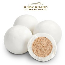 Andy Anand Belgian White Chocolate Malt Balls Gift Box Free Air Shipping 1 lbs - $29.84