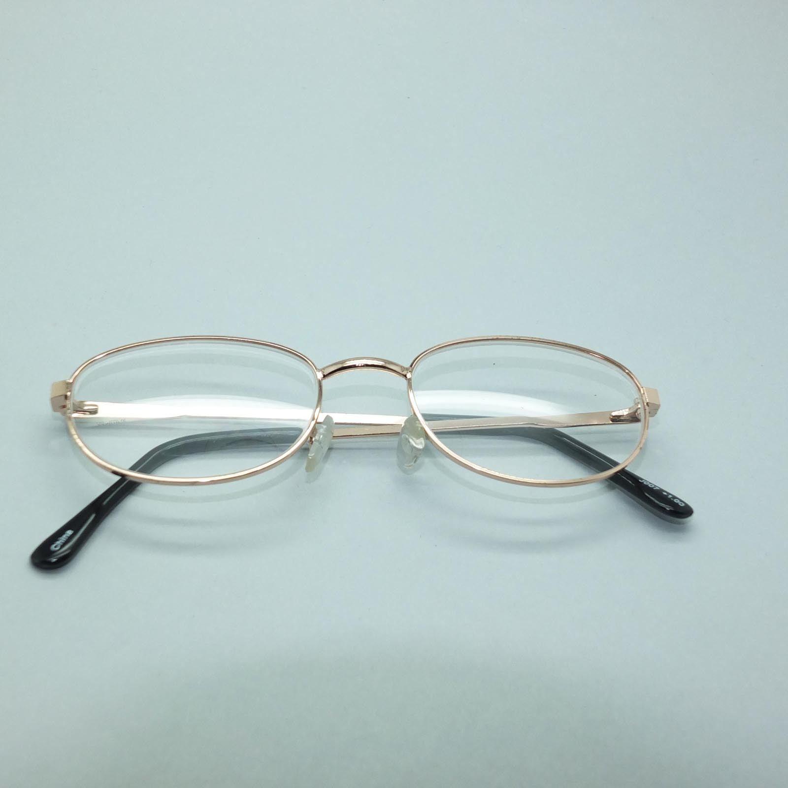 Reading Glasses Lightweight Gold Metal Frame Petite Oval +3.50 Lens