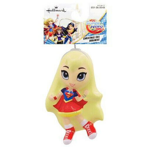 Primary image for Supergirl - HALLMARK Decoupage Christmas Tree Ornament - DC Super Hero Girls NEW