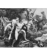 NUDE Goddess Venus & Bellona War Horse Chariot - VICTORIAN Era Print - $18.90