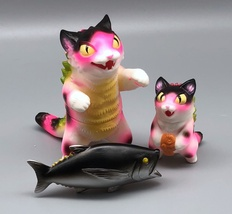 Max Toy Hot Pink Spotted Negora and Micro Negora w/ Fish - Rare image 5