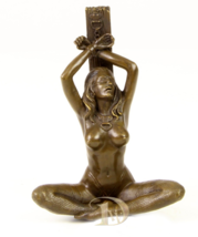 Antique Home Decor Bronze Sculpture Handcuffed female nude, signed * Fre... - $179.00
