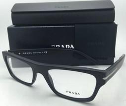 New PRADA Eyeglasses VPR 18R 1BO-1O1 53-18 140 Matte Black Frames w/Demo Lenses