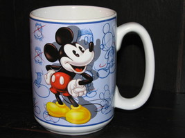 Mickey Mouse Walt Disney Store Large Mug Sketch Drawing Artist Coffee Cup PenInk - $19.99