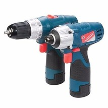 SILVERSTORM 10.8V DRILL IMPACT DRIVER TWIN PACK PAIR TOOLS GARAGE TOOL U123 - $115.46