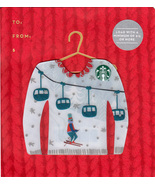 Starbucks 2016 Ugly Sweater Ski Lift Collectible Gift Card New No Value - $2.99