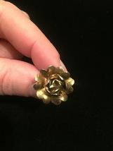 Vintage 50s golden rose screw back earrings image 5