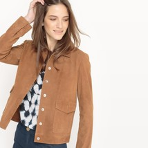 New Classic Collar With Two pockets women's Genuine Leather Outdoor Jacket