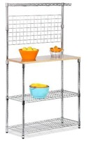 Bakers Rack With Kitchen Storage- Boards Cuttin... - $129.84