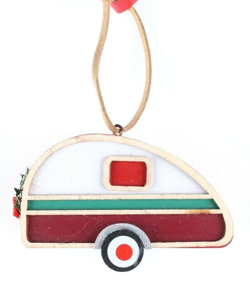 Wondershop Target Camper Trailer Wooden Christmas Ornament 2018 New with Tag