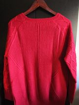 Women's Red Round Neck Dana Buchman Sweater, Size XL--FREE Priority Shipping! image 4