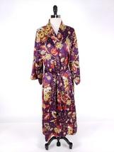 Natori Women Sleepwear Medium Large Gown Robe Belted Vibrant Floral Loun... - $119.99