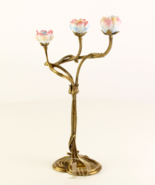 Candle Holder Antique Porcelain with 100% Bronze Wedding * Free Air Prio... - $149.00