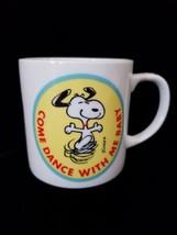Vintage Peanuts Come Dance w Me Baby Charlie Brown Snoopy Coffee Cup Mug... - $55.00