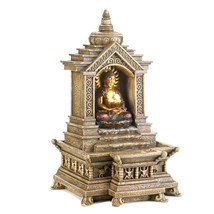 Small Water Fountain, Designers Fountain, Indoors Golden Buddha Temple F... - $52.93