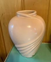 Vintage Haeger pottery Floral Vase pink 8x6 USA - $29.99