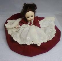 """VintageMADAME ALEXANDER 8"""" MARME BRUNETTE RED DRESS - $9.80"""