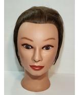 Miss Suzie-Kin #14901 Cosmetology Mannequin Head Brown Hair display  - $23.36