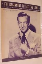 Vintage I'm Beginning To See The Light Sheet Music Duke Ellington 1944 - $7.91