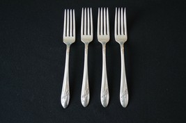 Oneida Community Queen Bess 1946 Set of 4 Dinner Forks - $9.90