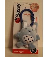 New! Sassy Plush Ziggle Light Blue Bunny - $7.99