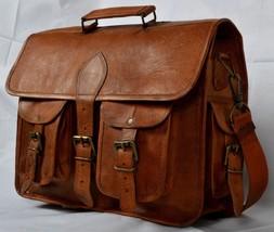 New Man Genuine Vintage Rustic Soft Leather Messenger Shoulder Laptop Br... - $73.52