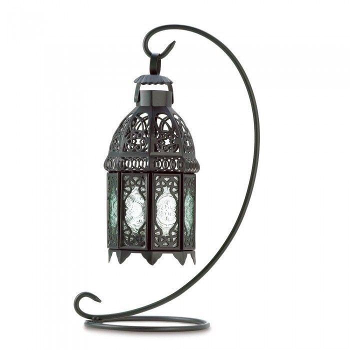 Rainbow Moroccan METALWORK Lantern Candle Holder Wedding Centerpiece w Stand