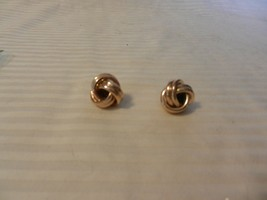 Women's Gold Tone Metal Large Knot Style Pierced Earrings - $29.70