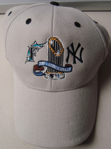 Vint New Era 2003 World Series Yankees Marlins ADJ Strap Ball Cap Mens 1... - $8.73