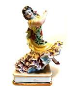 Rare Marca Garanti Spanish Dancer Figurine Floral Dress Numbered 7.5 inc... - $232.65