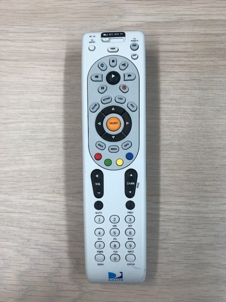 DirecTV RC16  DVR Remote Control- Tested And Cleaned                        (K7)