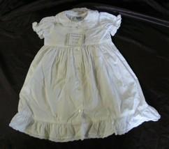 April Cornell Cornelloki Baby Girl White Ruffle Dress Beach Photo Portra... - $34.64