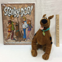 """12"""" Scooby Doo Plush Toy Dog Stuffed Mystery Gang Metal Sign Wall Hanging Lot 2 - $24.74"""