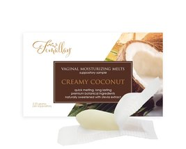 Sample of Creamy Coconut Vaginal Moisturizing Suppositories - $2.25