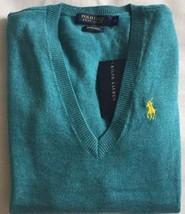 Ralph Lauren Damen Pullover türkis Merino Wolle V AUSSCHNITT XS extra klein - $86.27